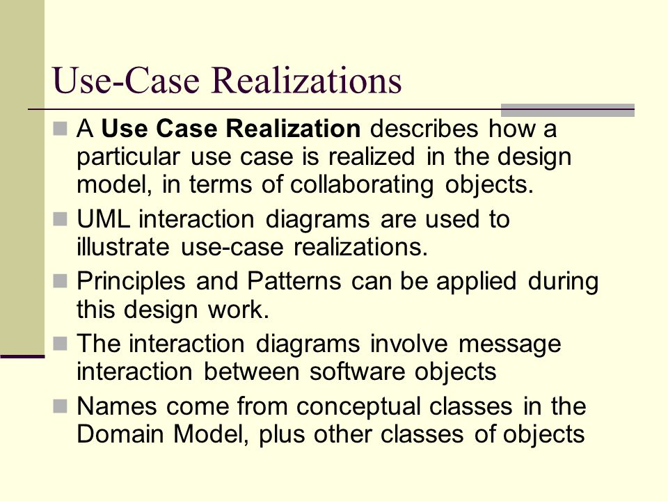 Use-Case Realizations