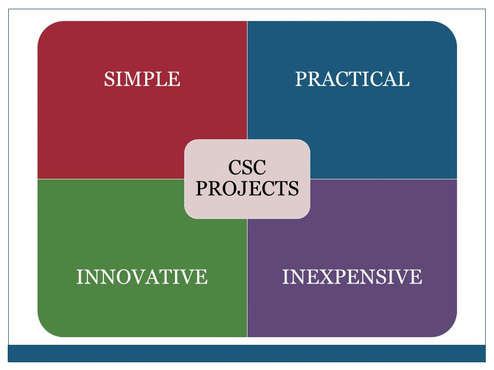 CSC PROJECTS SIMPLE PRACTICAL INNOVATIVE INEXPENSIVE