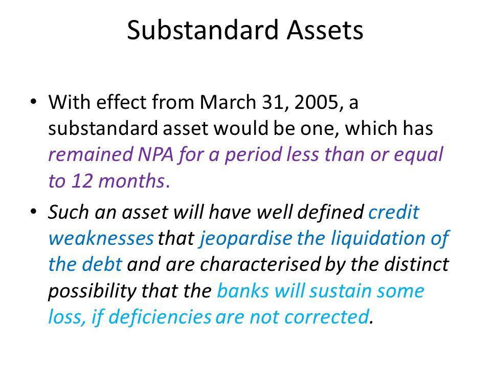 Substandard Assets