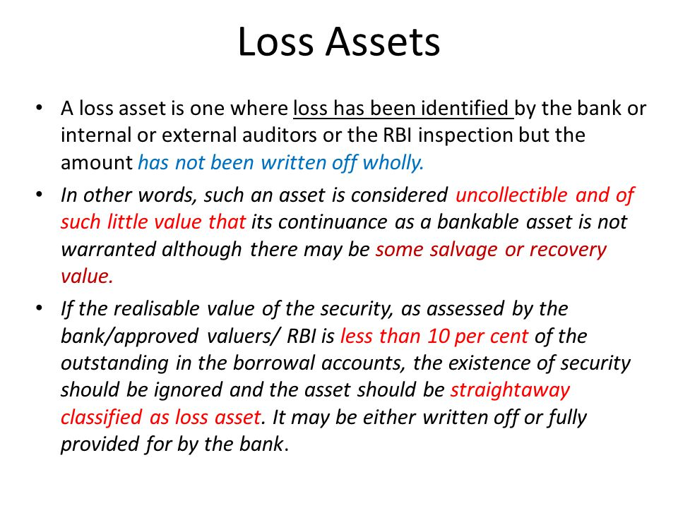 Loss Assets