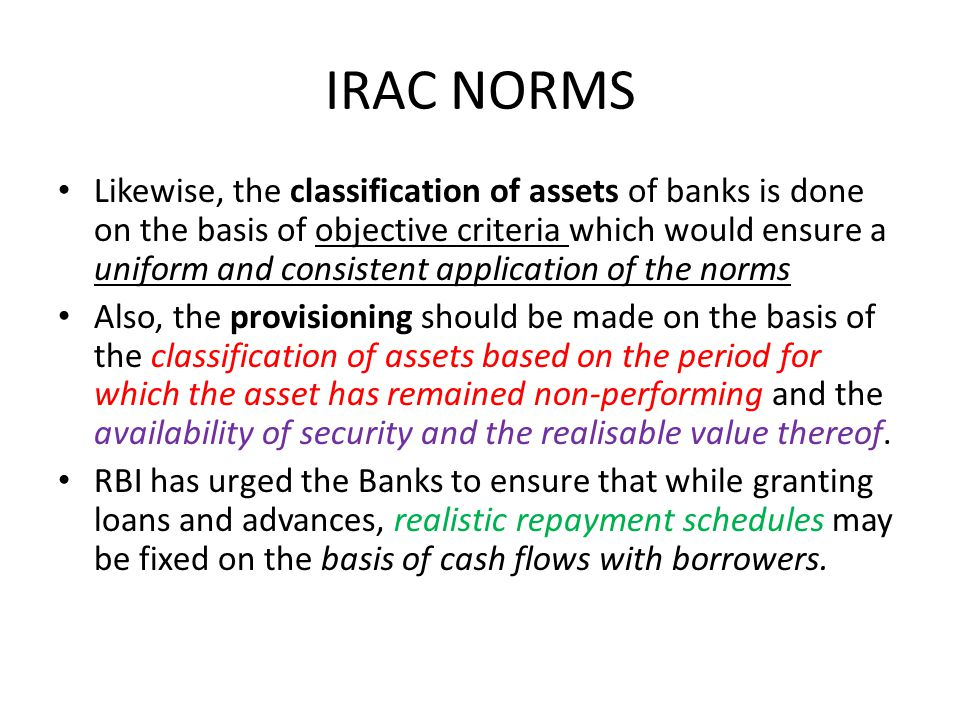 IRAC NORMS