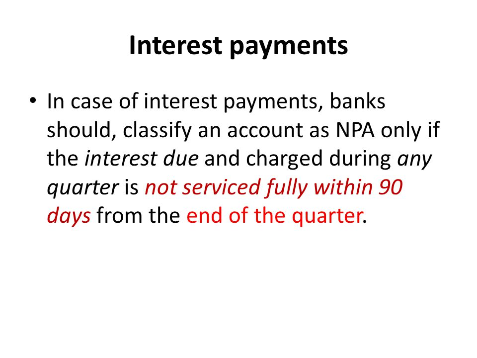 Interest payments
