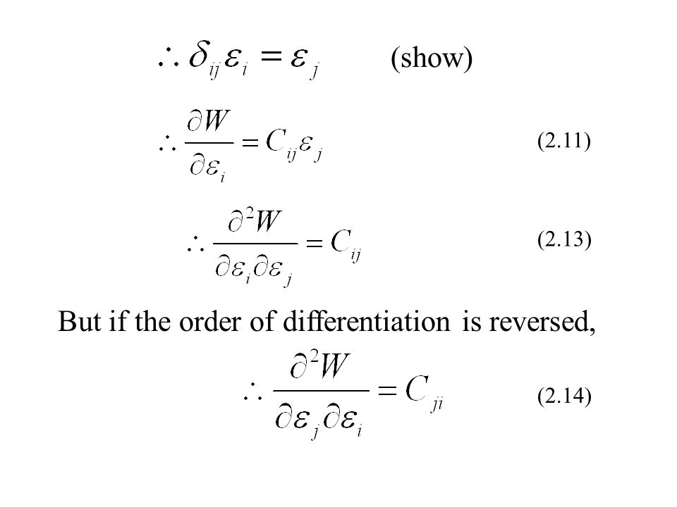 But if the order of differentiation is reversed,