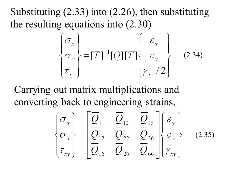 Substituting (2.33) into (2.26), then substituting the resulting equations into (2.30)