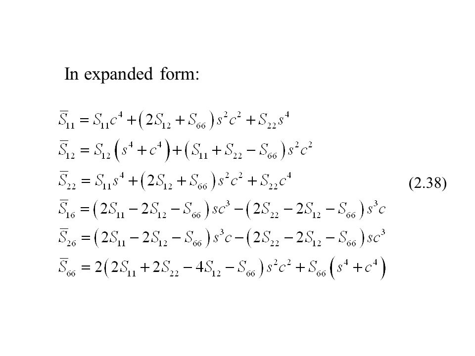 In expanded form: (2.38)