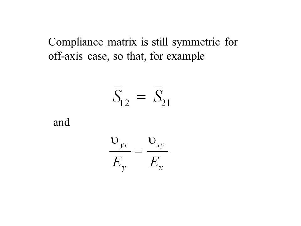 Compliance matrix is still symmetric for
