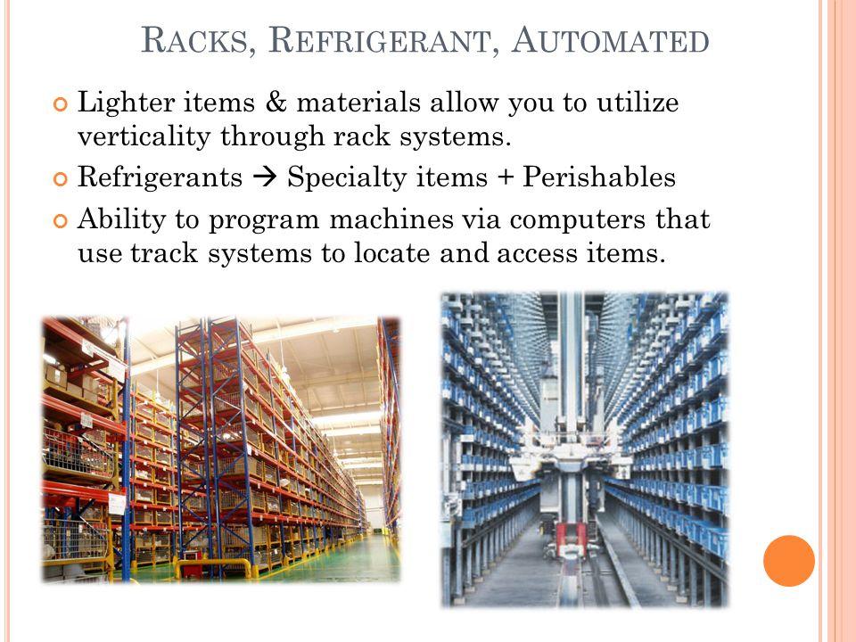 Racks, Refrigerant, Automated