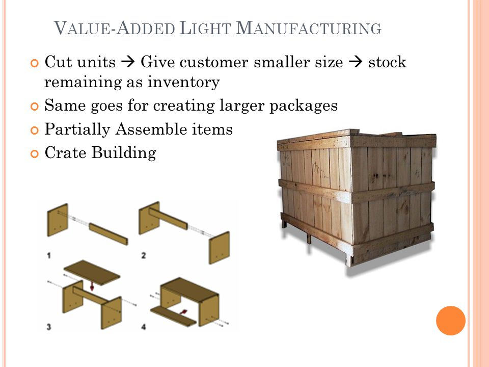 Value-Added Light Manufacturing