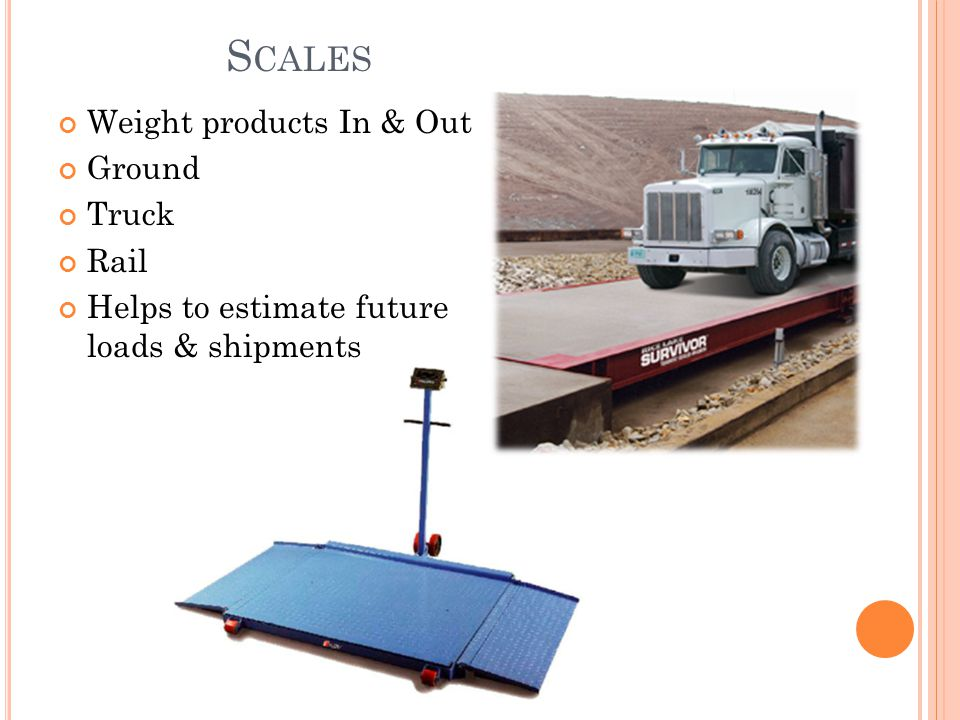 Scales Weight products In & Out Ground Truck Rail