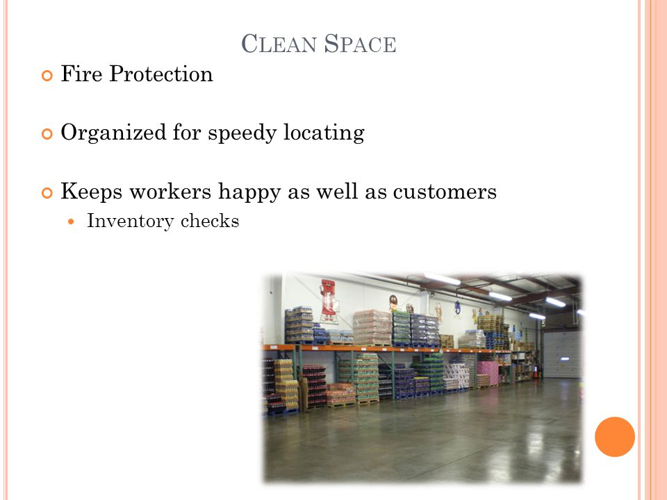 Clean Space Fire Protection Organized for speedy locating