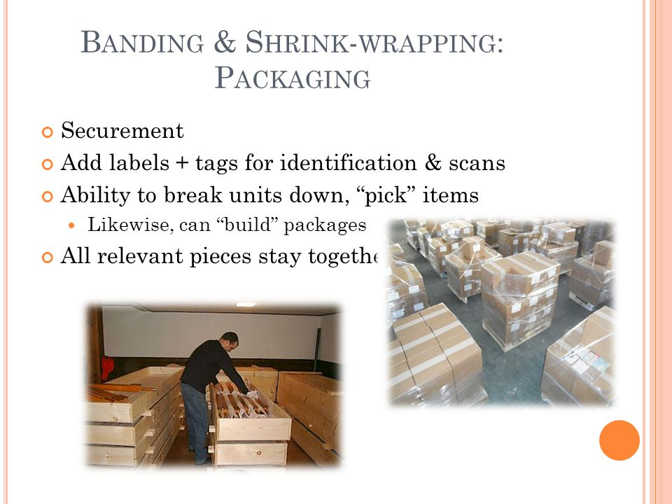 Banding & Shrink-wrapping: Packaging