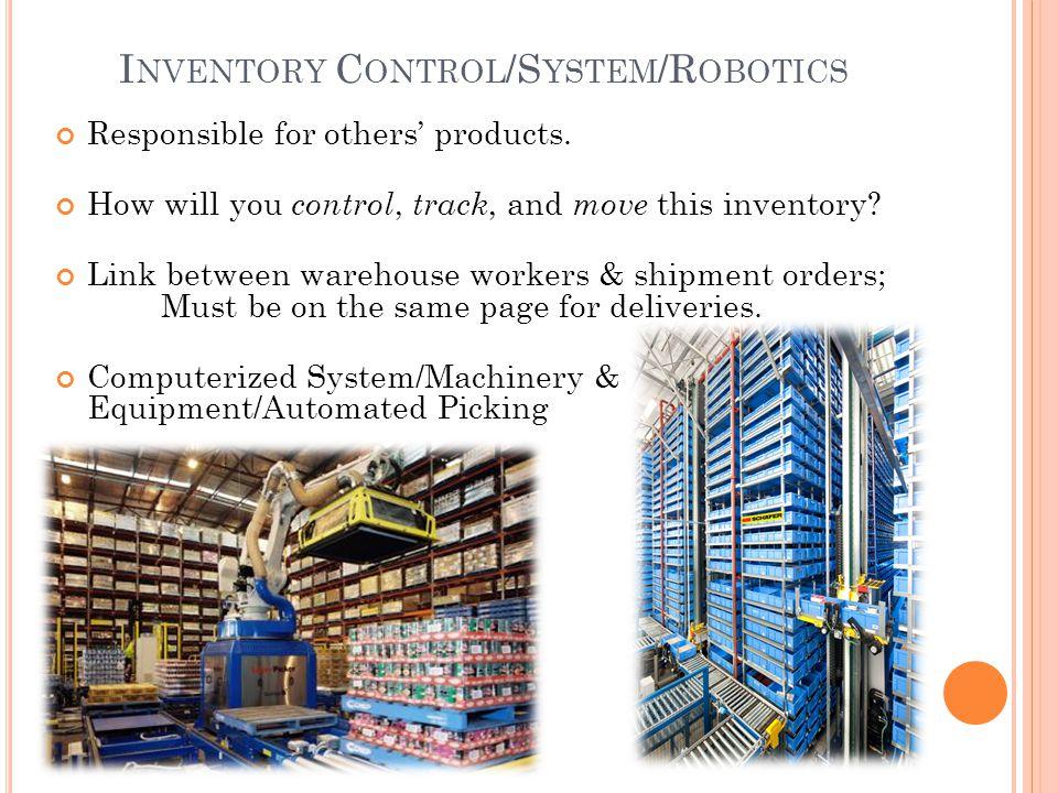 Inventory Control/System/Robotics