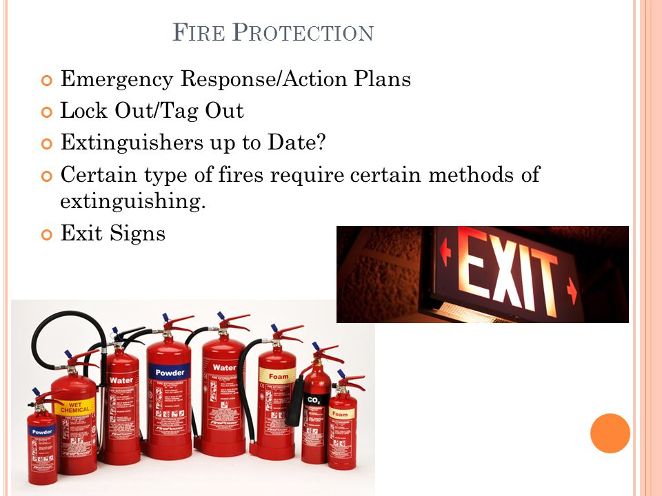 Fire Protection Emergency Response/Action Plans Lock Out/Tag Out