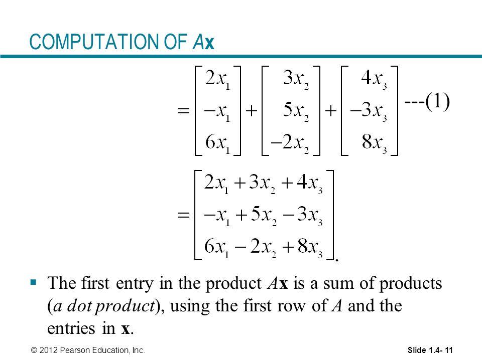 COMPUTATION OF Ax ---(1) .