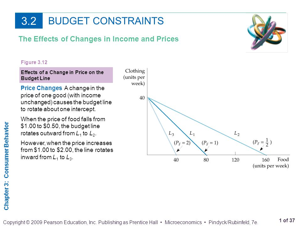 3.2 BUDGET CONSTRAINTS The Effects of Changes in Income and Prices