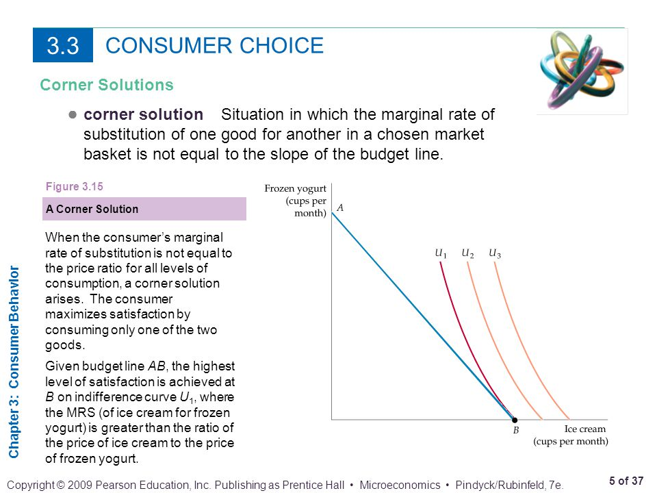 3.3 CONSUMER CHOICE. Corner Solutions.