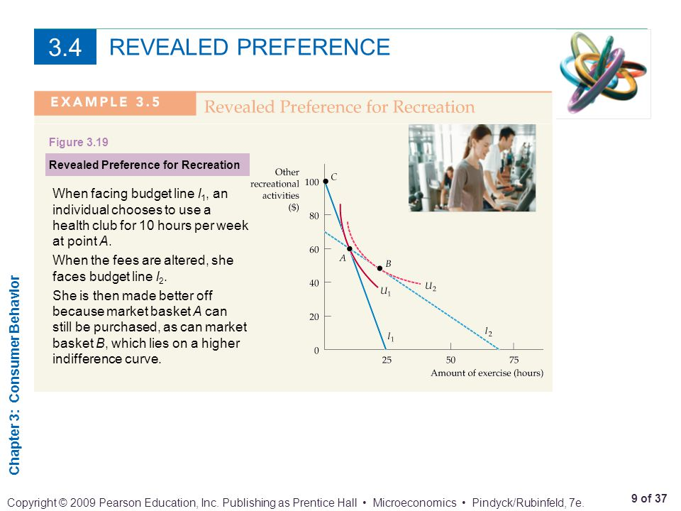 3.4 REVEALED PREFERENCE. Figure 3.19. Revealed Preference for Recreation.