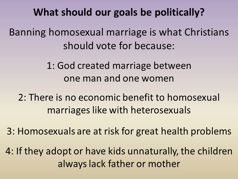 What should our goals be politically