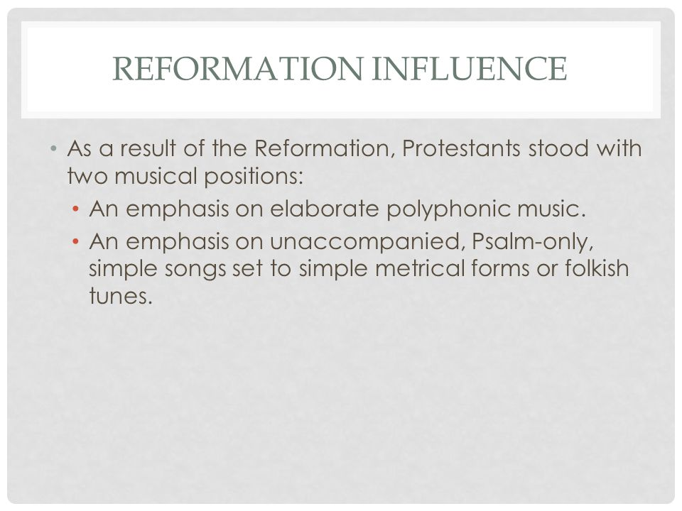 Reformation influence