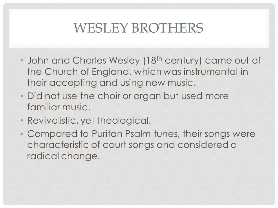 Wesley brothers