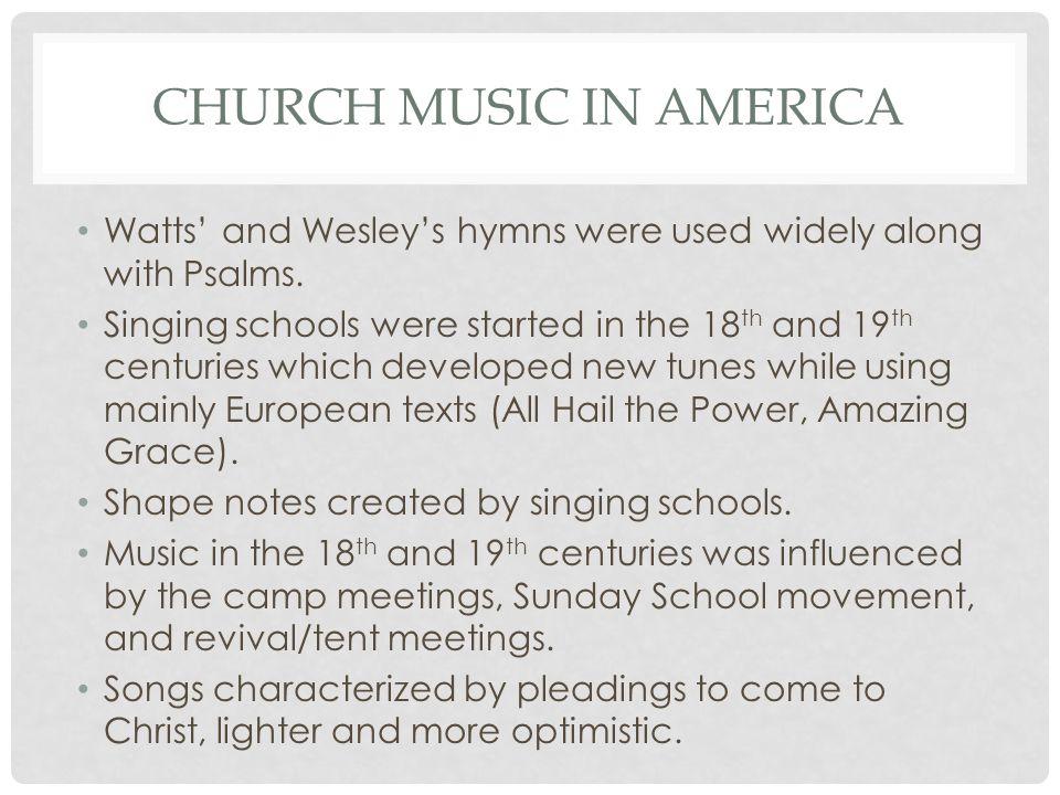 Church music in america