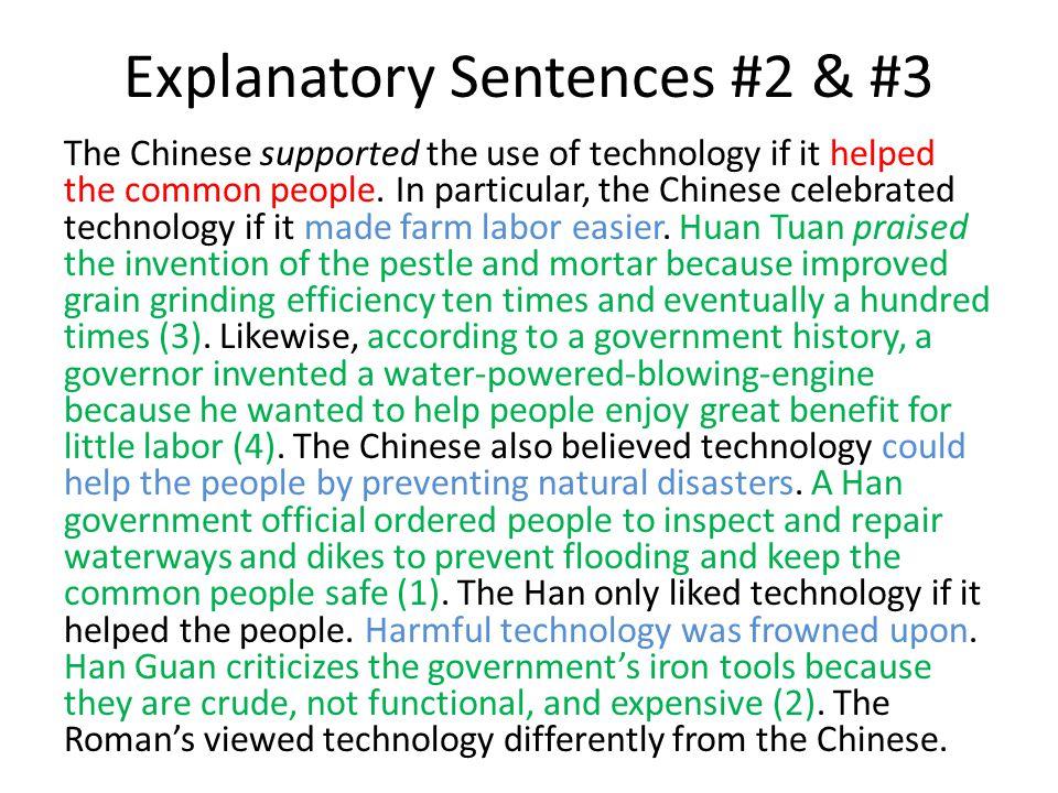 Explanatory Sentences #2 & #3
