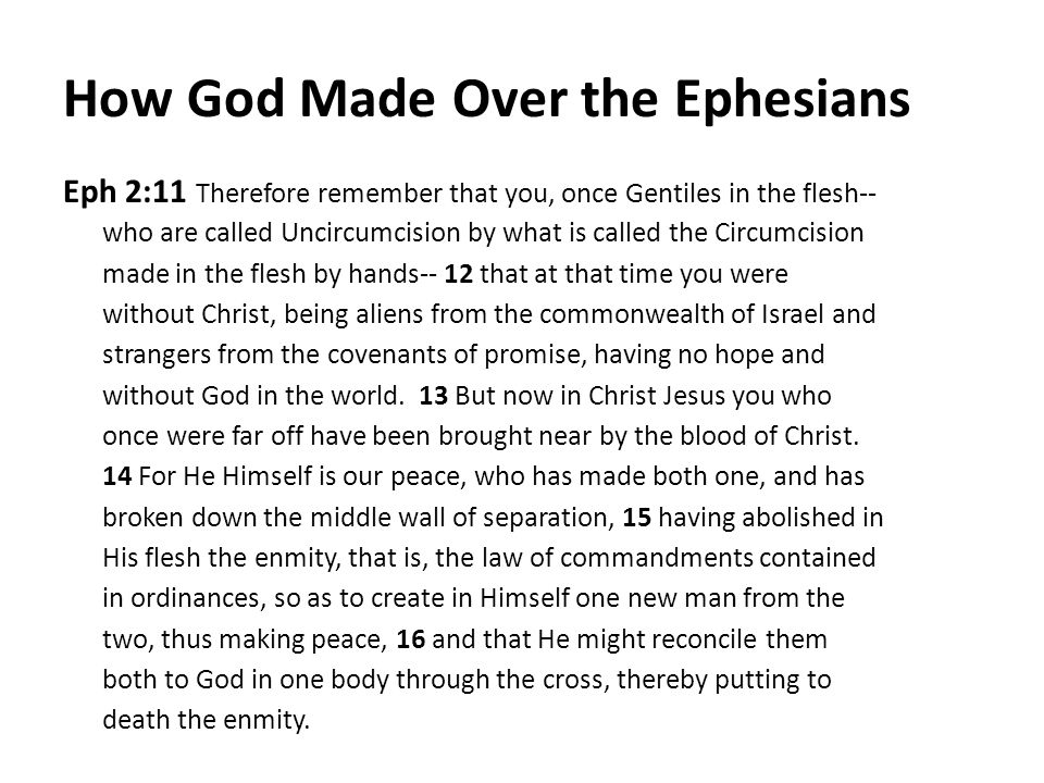 How God Made Over the Ephesians