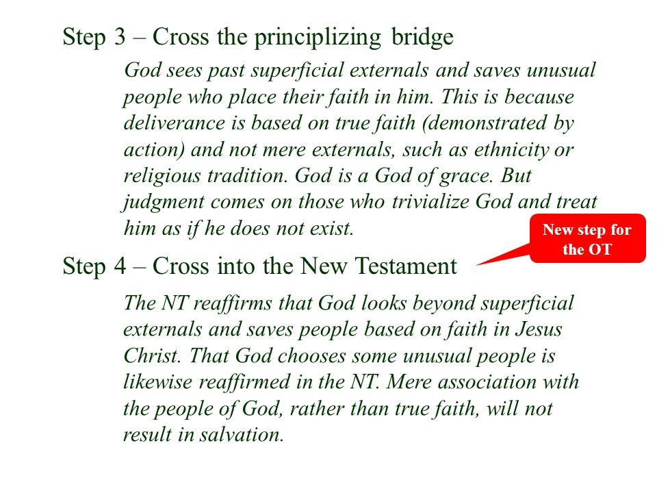 Step 3 – Cross the principlizing bridge