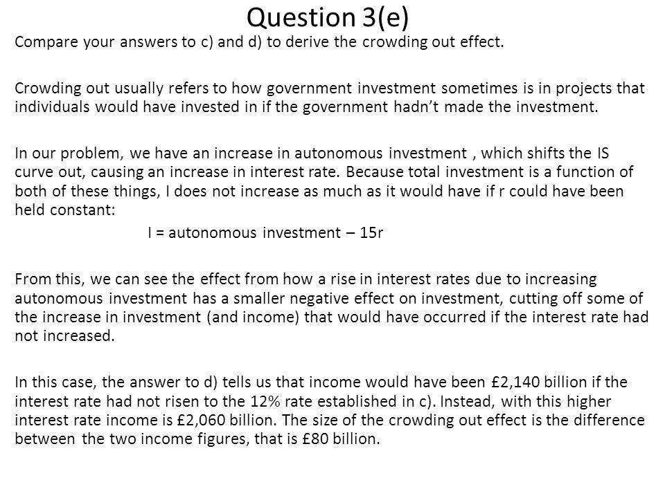 Question 3(e)