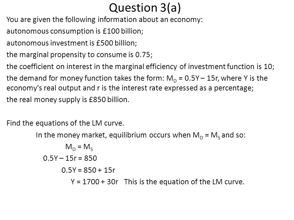 Question 3(a)