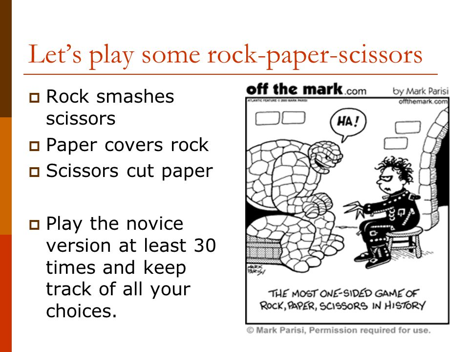 Let's play some rock-paper-scissors