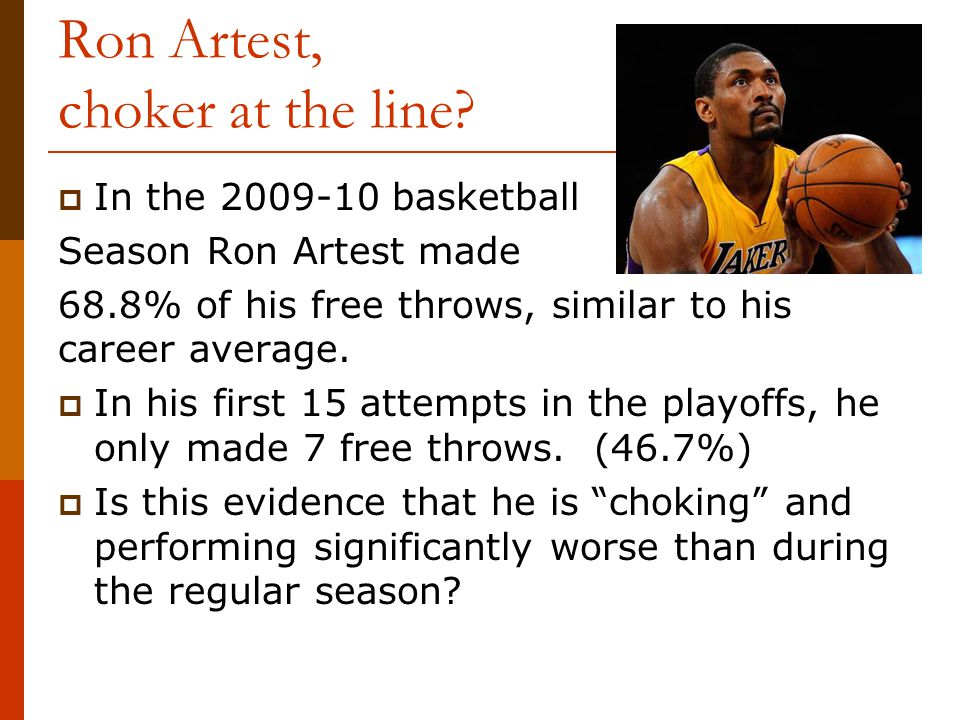 Ron Artest, choker at the line