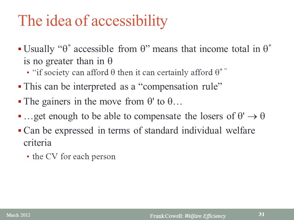 The idea of accessibility