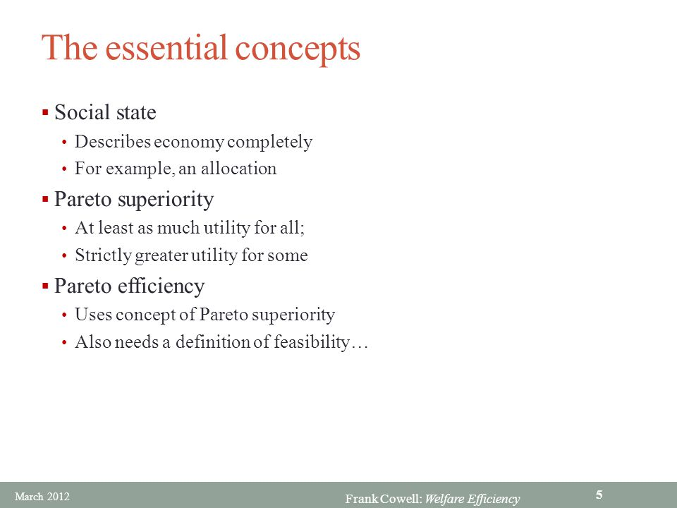 The essential concepts