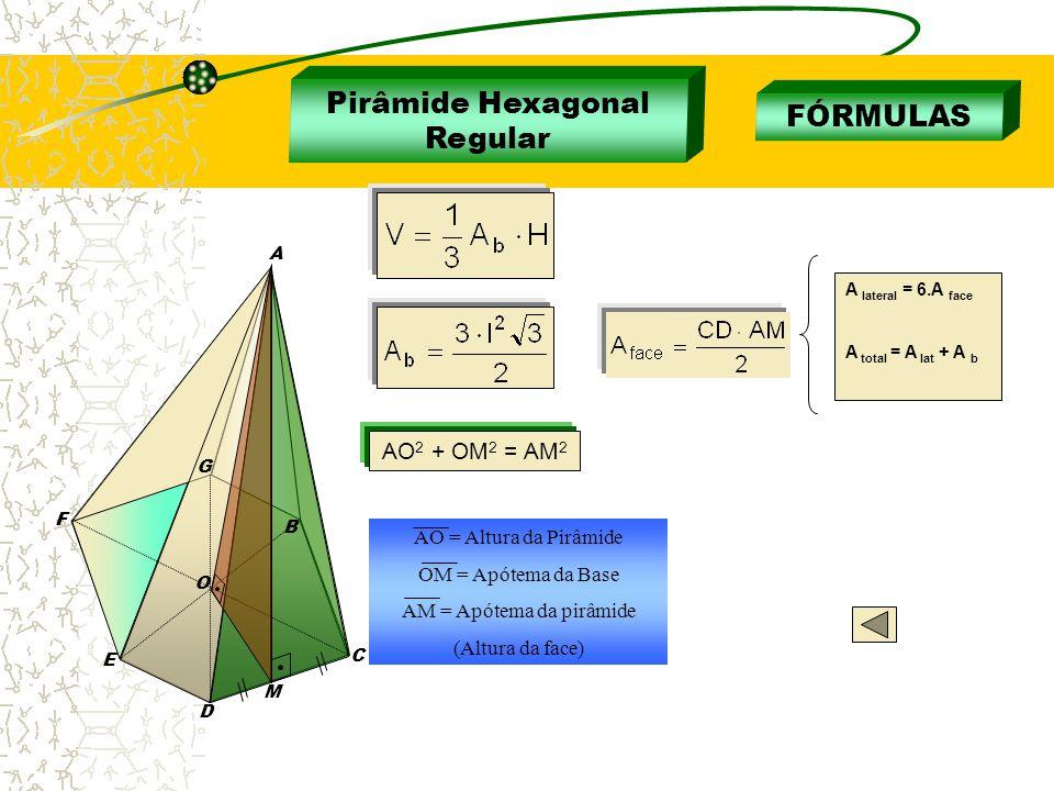 Pirâmide Hexagonal Regular FÓRMULAS