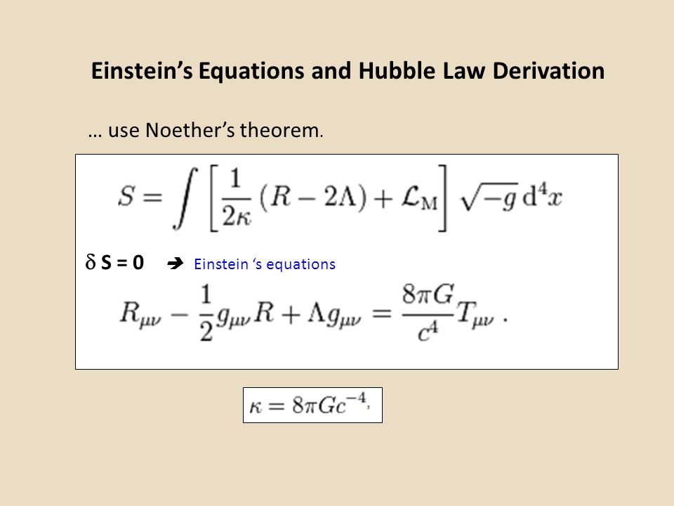 Einstein's Equations and Hubble Law Derivation