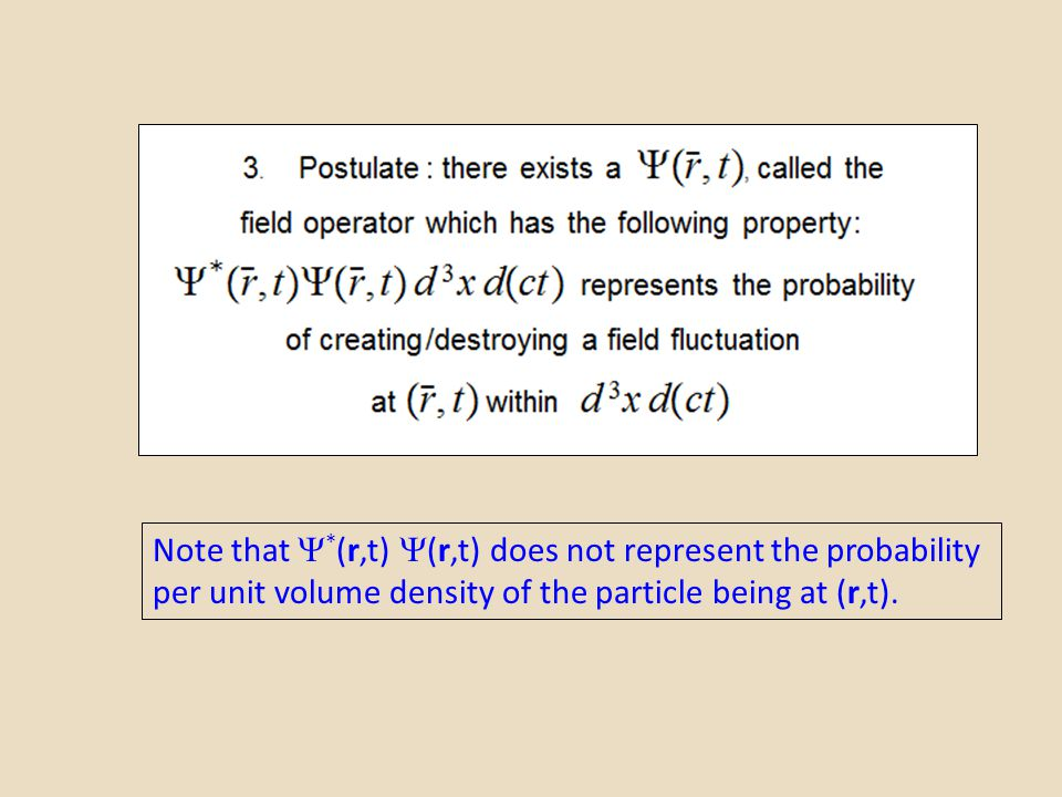 Note that *(r,t) (r,t) does not represent the probability