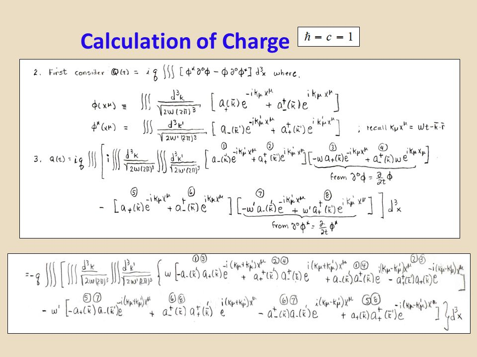 Calculation of Charge