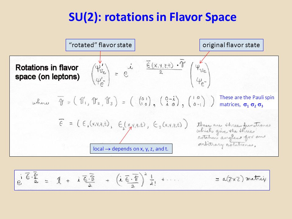 SU(2): rotations in Flavor Space