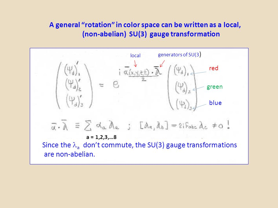 A general rotation in color space can be written as a local,