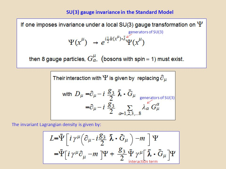 SU(3) gauge invariance in the Standard Model