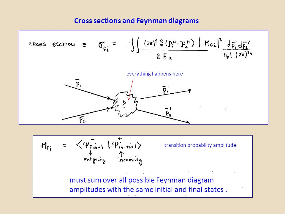 Cross sections and Feynman diagrams