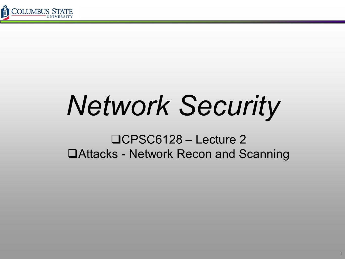 Attacks - Network Recon and Scanning