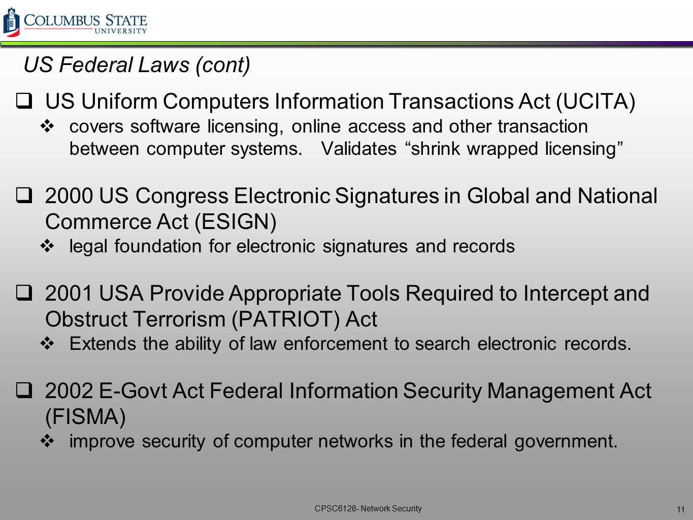 US Uniform Computers Information Transactions Act (UCITA)