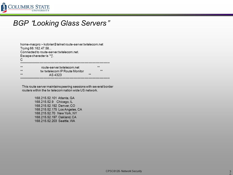 BGP Looking Glass Servers
