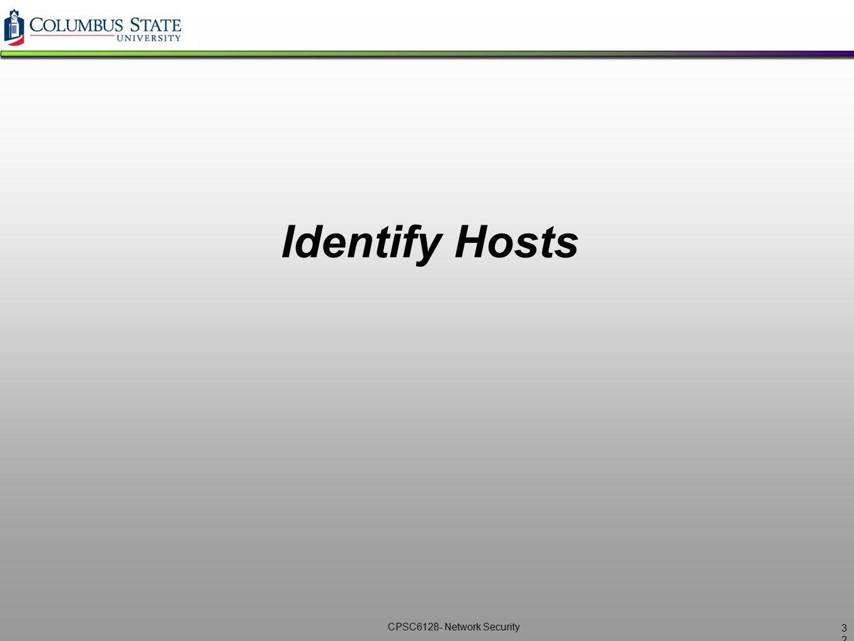 Identify Hosts 32