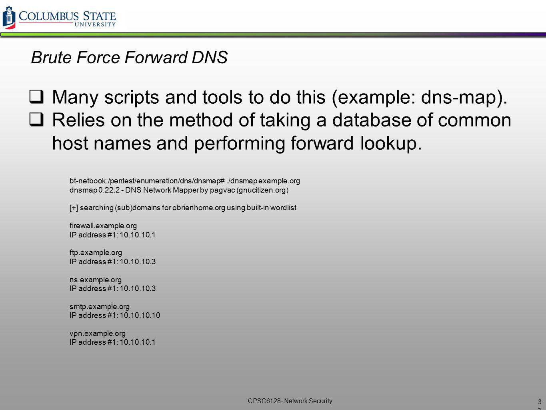 Brute Force Forward DNS