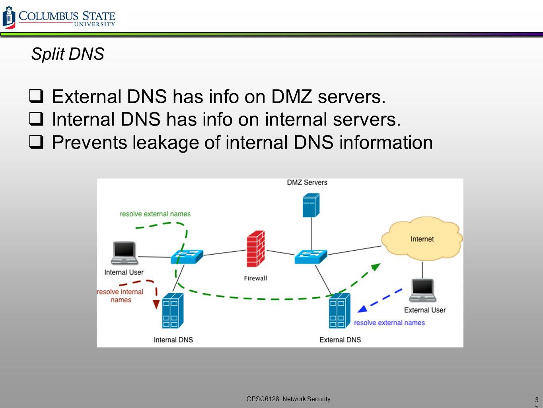 External DNS has info on DMZ servers.