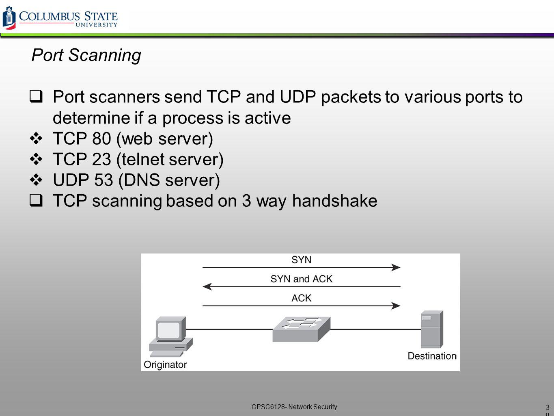 TCP scanning based on 3 way handshake