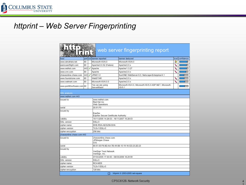 httprint – Web Server Fingerprinting